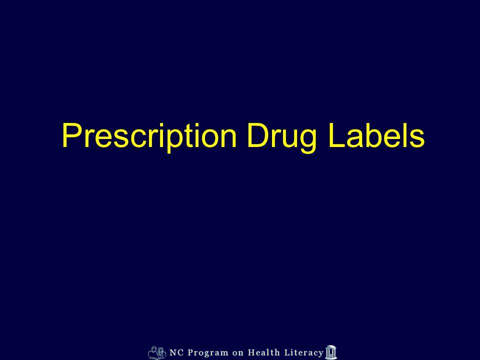 Prescription Drug Labels