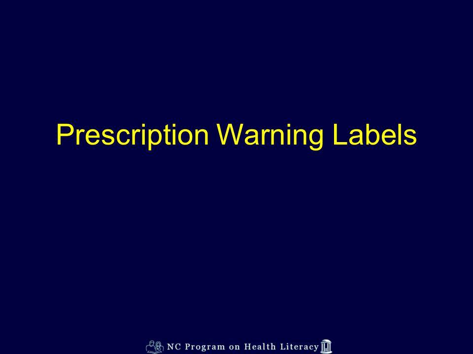 Prescription Warning Labels