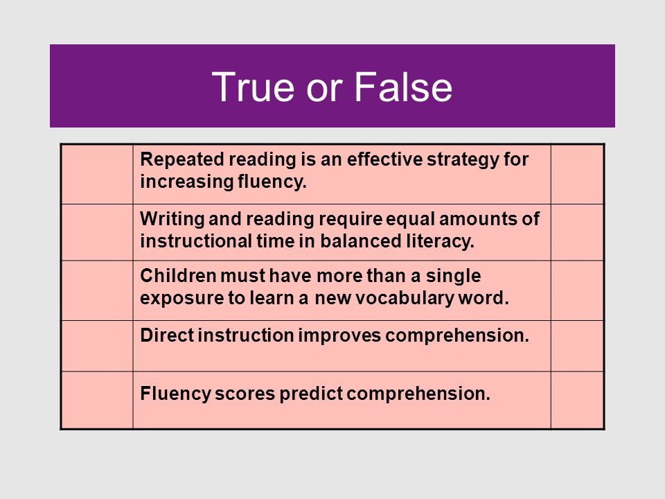 Fluency What is your definition of reading fluency?