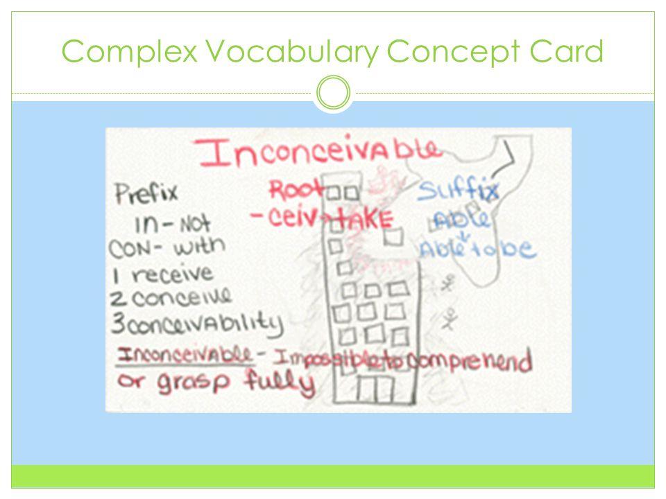 Complex Vocabulary Concept Card