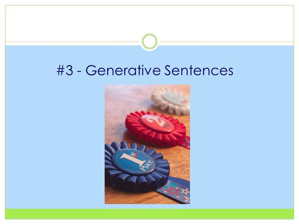 #3 - Generative Sentences