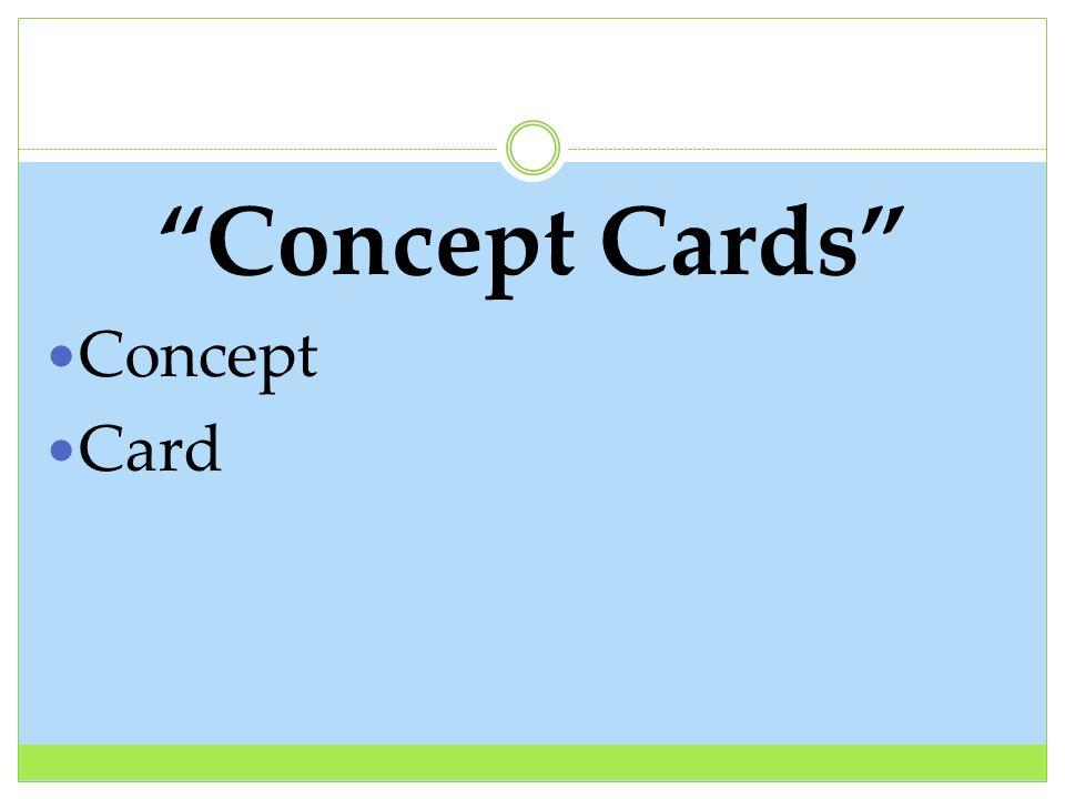 Concept Cards Concept Card