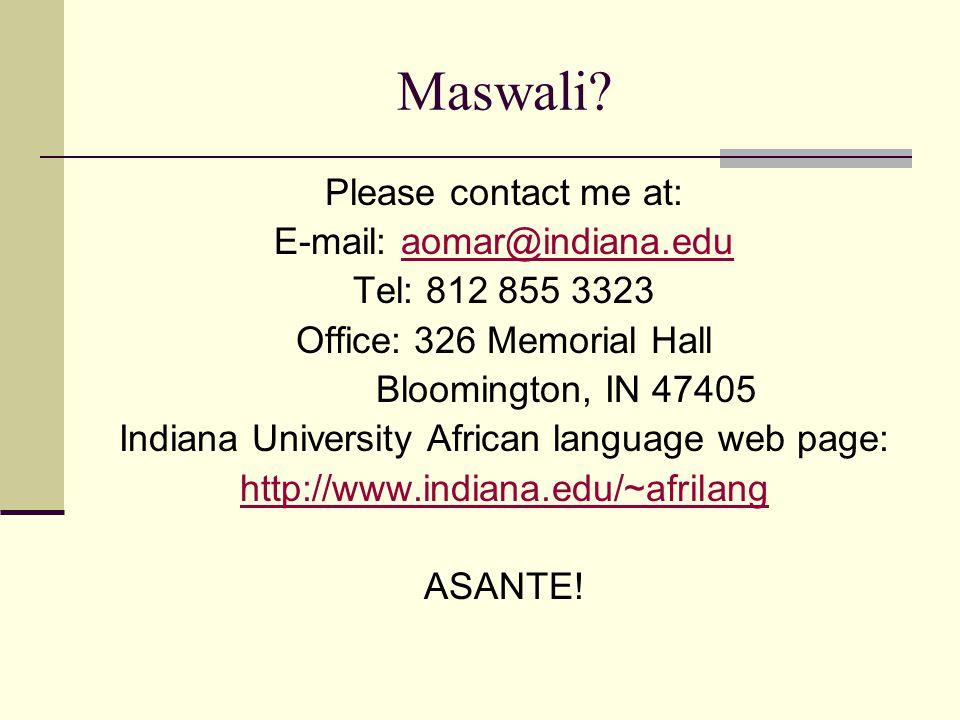 Maswali.