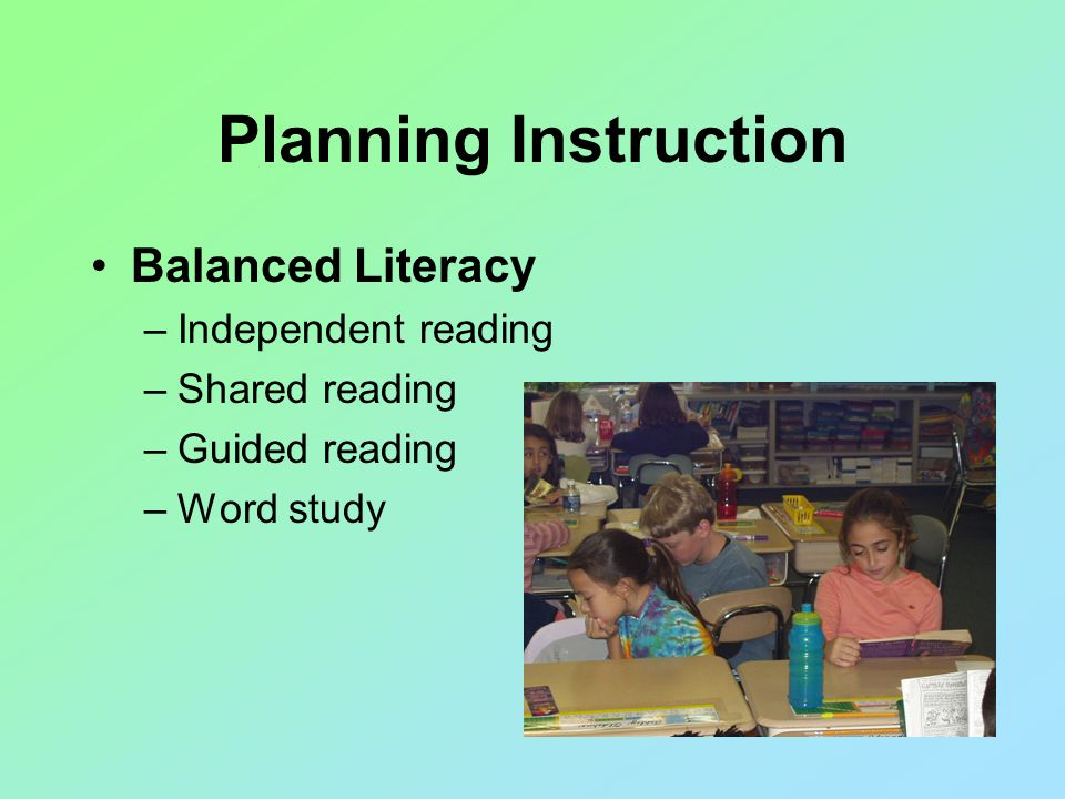 Guided Reading (Small Group Differentiated) Students need repeated opportunities to read instructional level text.