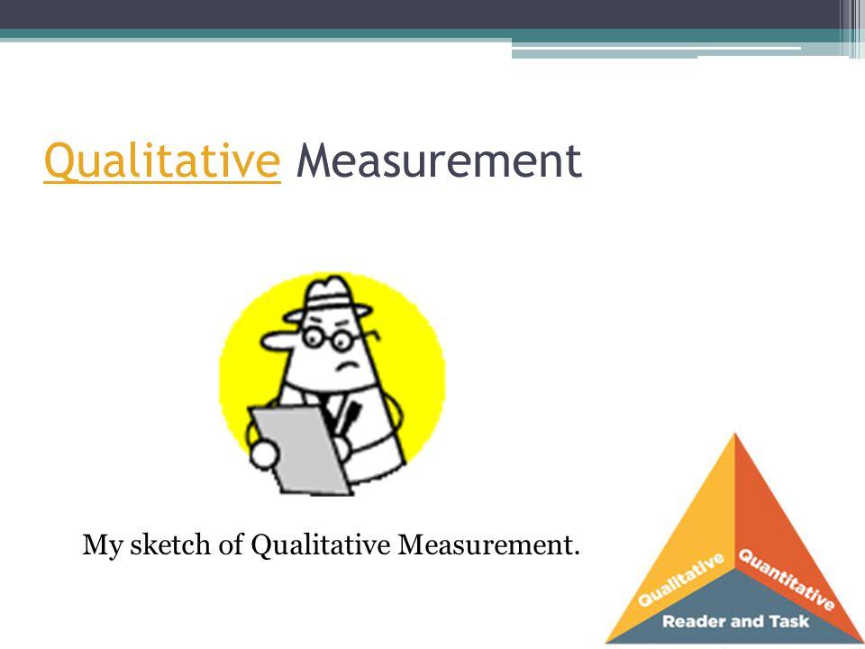 Qualitative Measurement My sketch of Qualitative Measurement.
