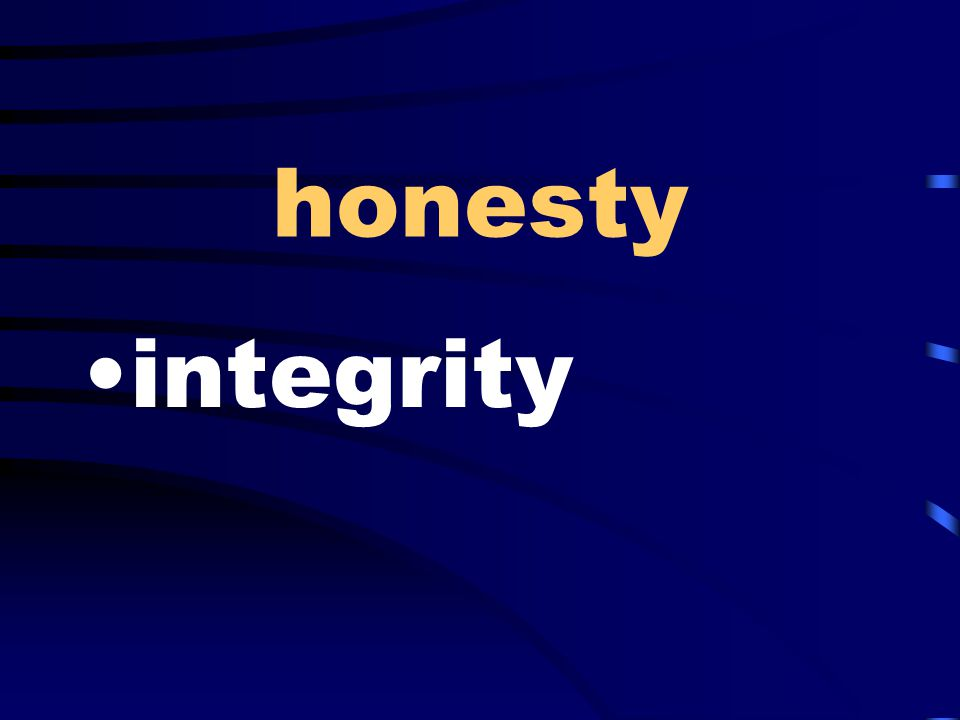 honesty integrity