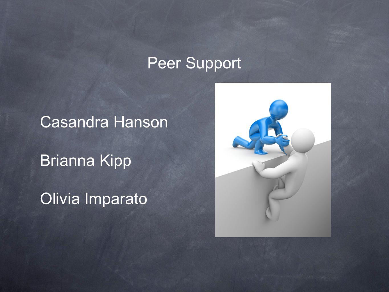 Peer Support Casandra Hanson Brianna Kipp Olivia Imparato