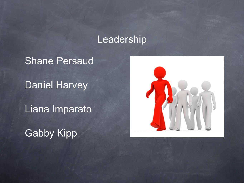 Leadership Shane Persaud Daniel Harvey Liana Imparato Gabby Kipp