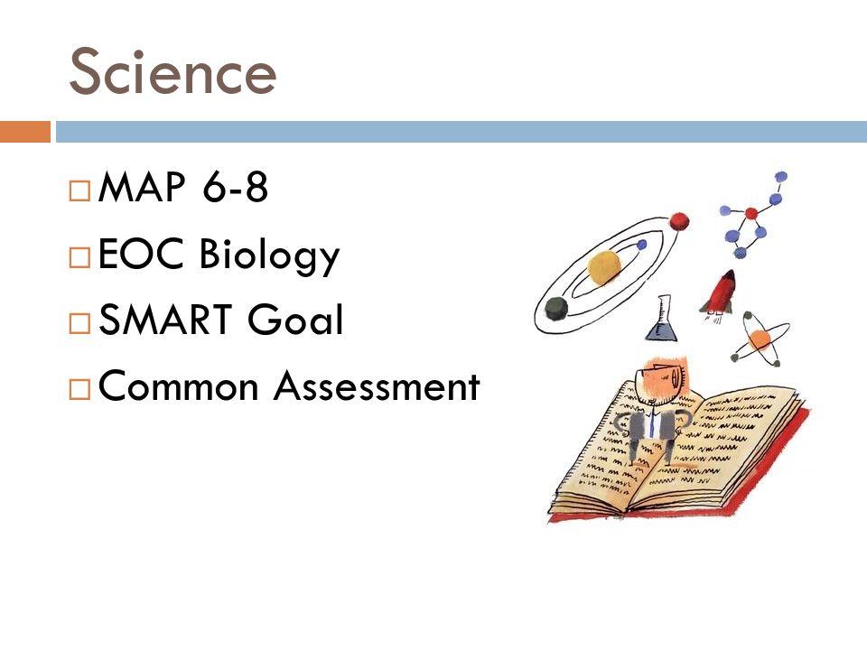 Science  MAP 6-8  EOC Biology  SMART Goal  Common Assessment