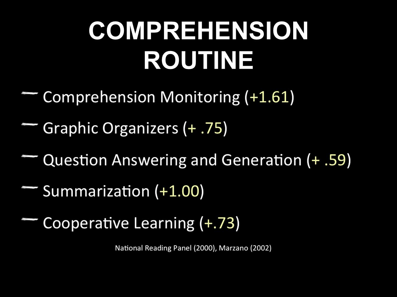 COMPREHENSION ROUTINE