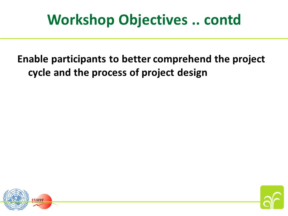 Workshop Objectives..