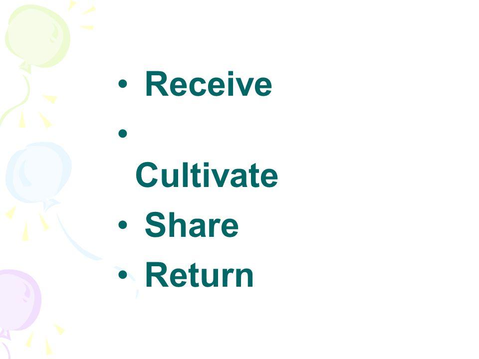 Receive Cultivate Share Return