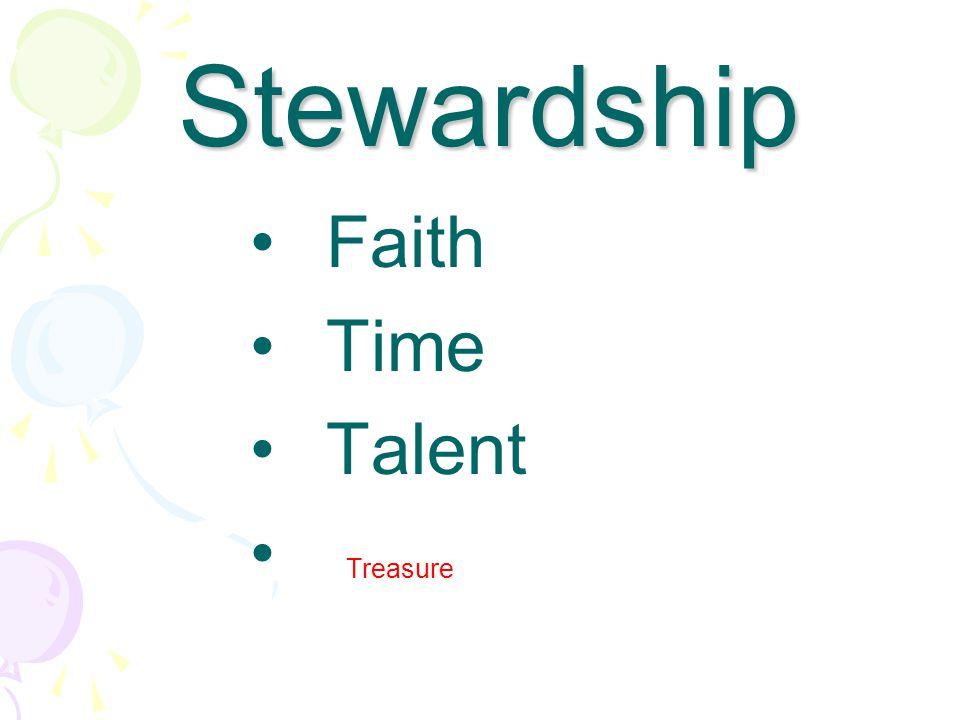 Faith Time Talent Treasure Stewardship