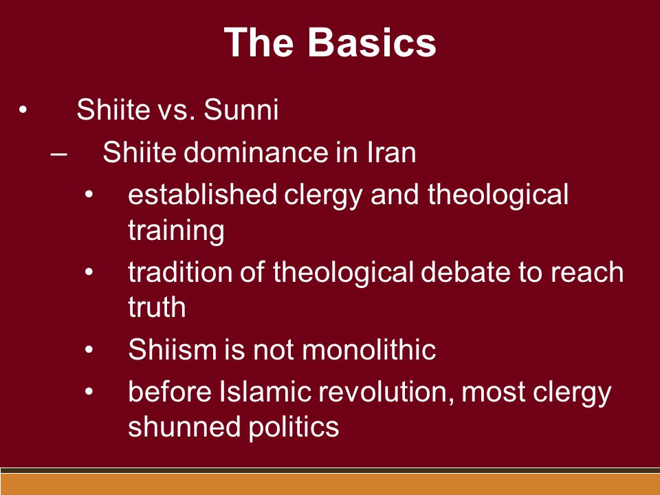 The Basics Shiite vs.