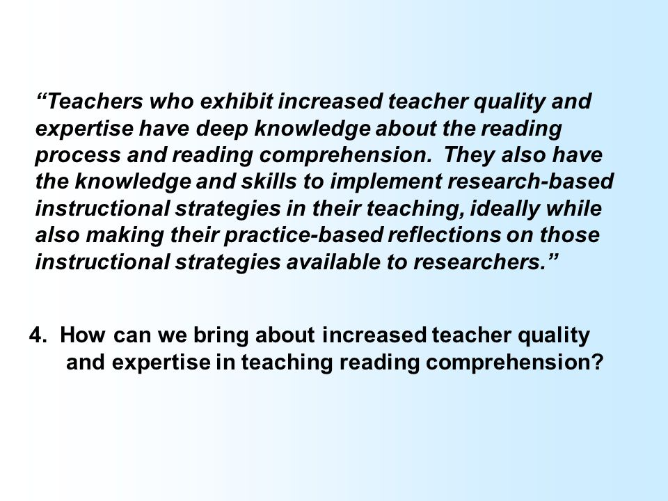 1. Teachers need guidance about how to combine and prioritize these various instructional approaches in the classroom. 2. Teachers working in high-pov