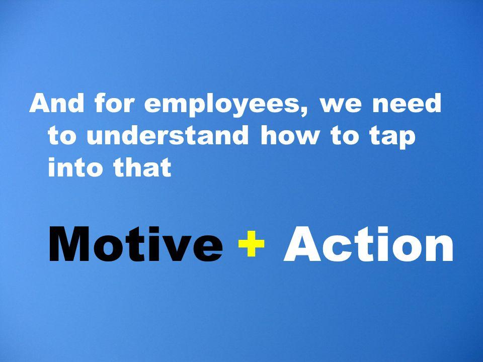 Motive+ Action
