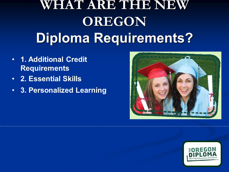 WHAT ARE THE NEW OREGON Diploma Requirements. 1. Additional Credit Requirements 2.