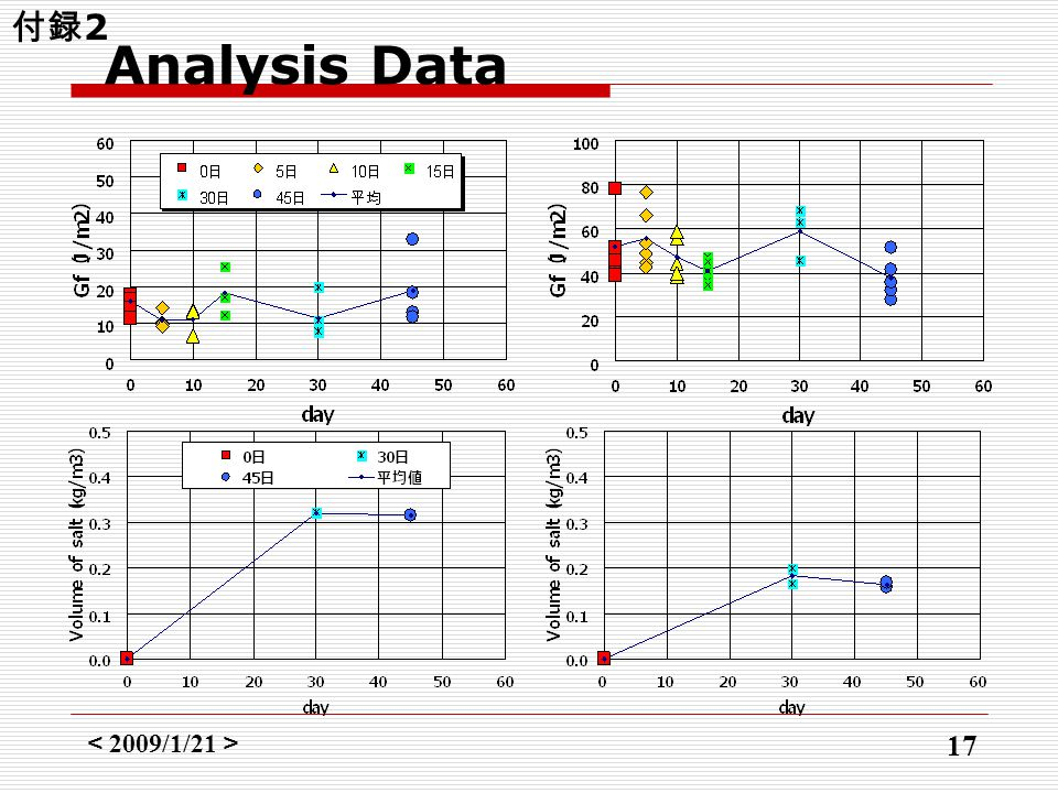 < 2009/1/21 > 17 Analysis Data 付録 2