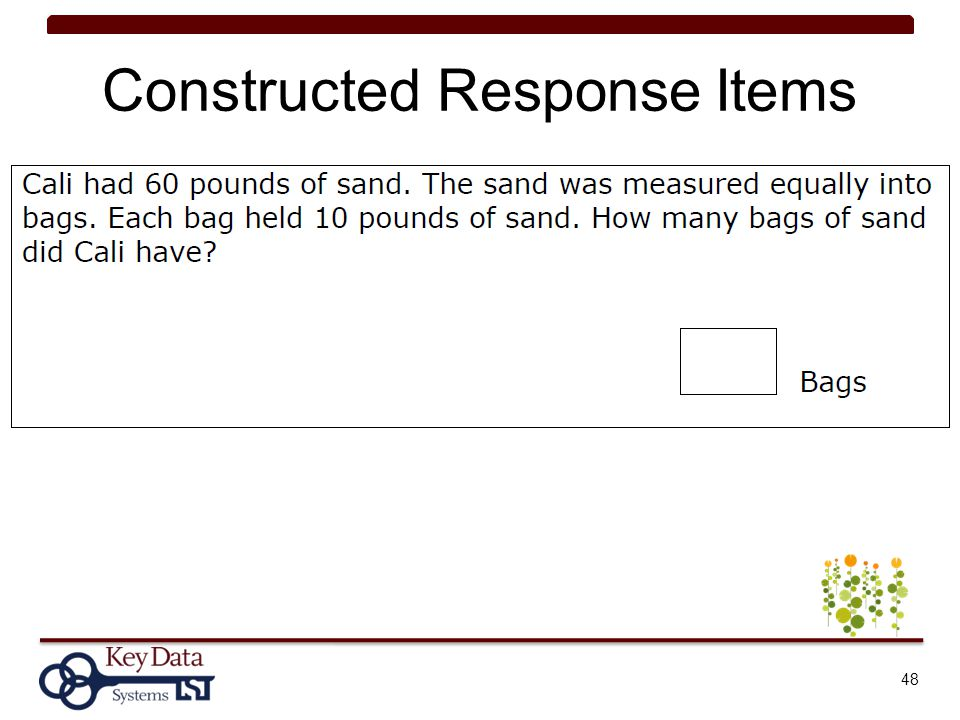 Constructed Response Items 48