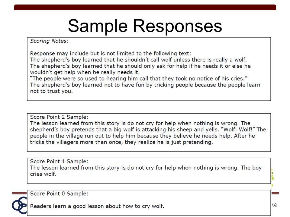 Sample Responses 52