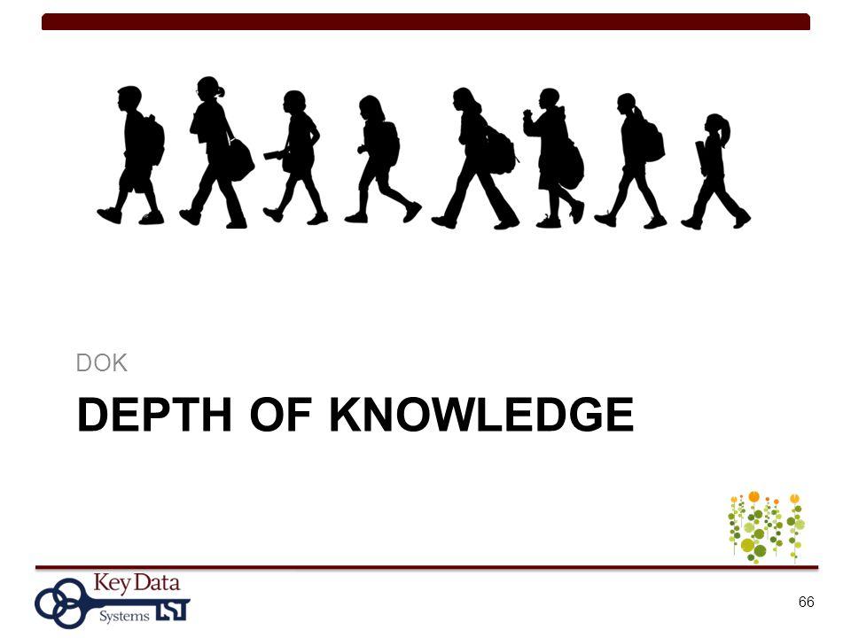 DEPTH OF KNOWLEDGE DOK 66