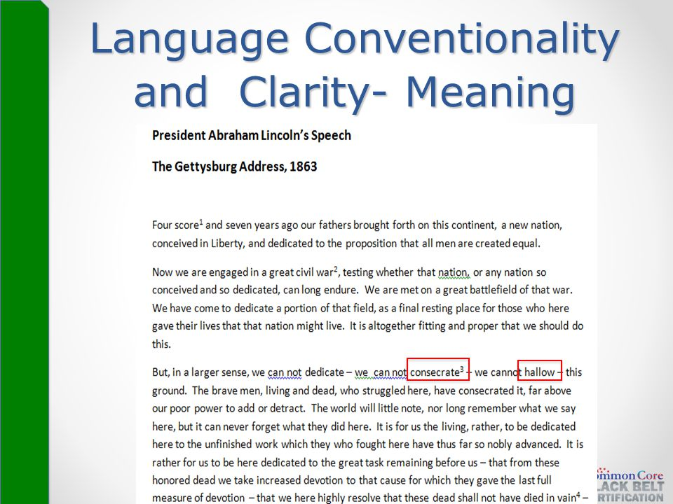 x Language Conventionality and Clarity- Meaning