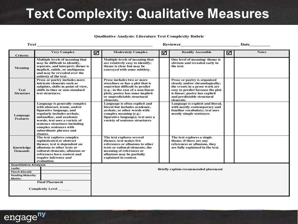 Text Complexity: Qualitative Measures