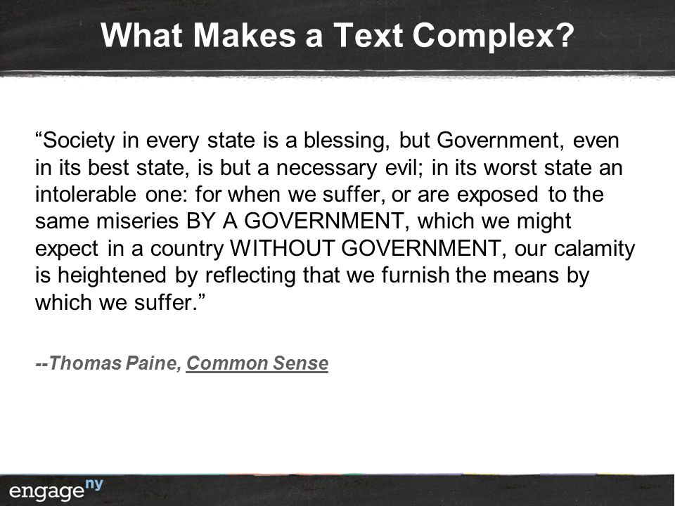 What Makes a Text Complex. Call me Ishmael.