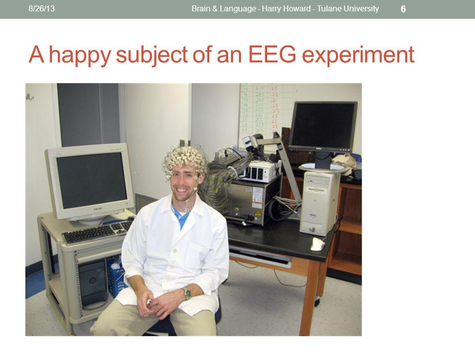 A happy subject of an EEG experiment 8/26/13Brain & Language - Harry Howard - Tulane University 6