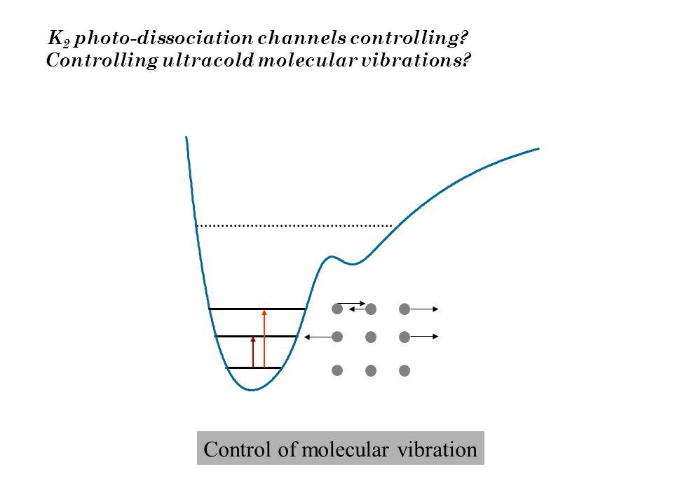 K 2 photo-dissociation channels controlling? Controlling ultracold molecular vibrations? Control of molecular vibration