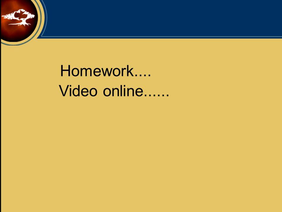 Homework.... Video online......