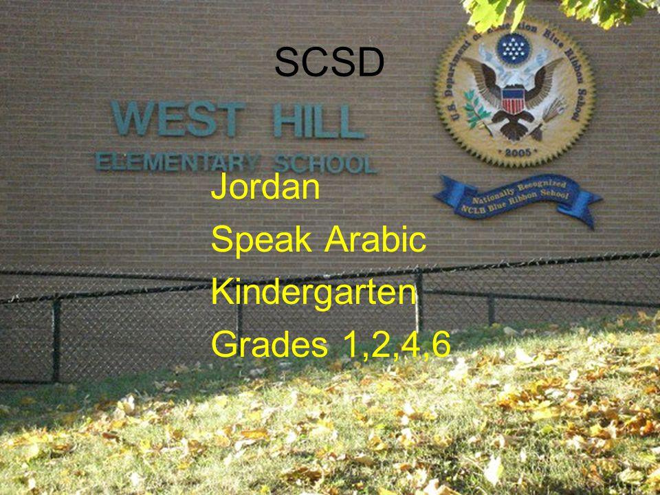 SCSD Jordan Speak Arabic Kindergarten Grades 1,2,4,6