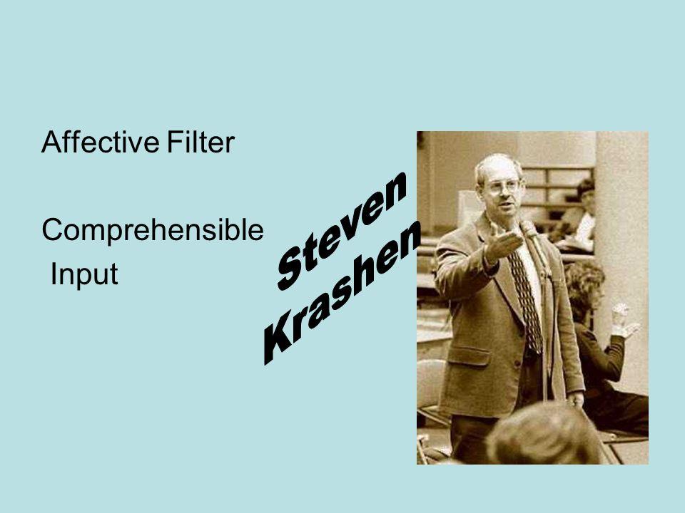Affective Filter Comprehensible Input