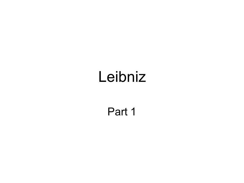 Leibniz Part 1