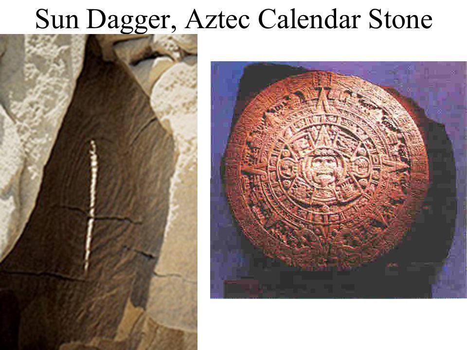 Sun Dagger, Aztec Calendar Stone
