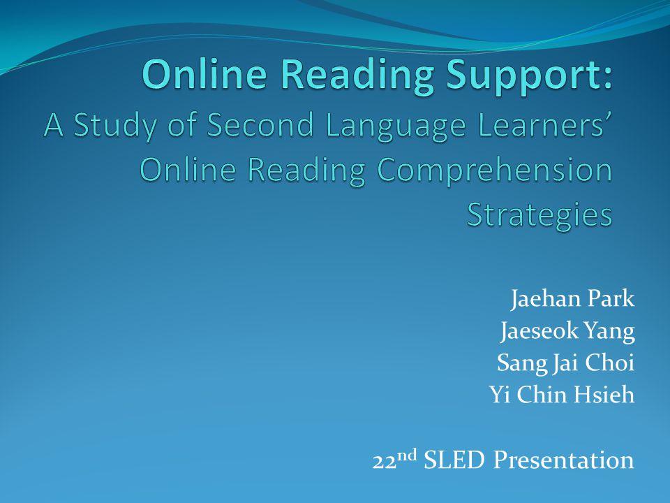 Jaehan Park Jaeseok Yang Sang Jai Choi Yi Chin Hsieh 22 nd SLED Presentation