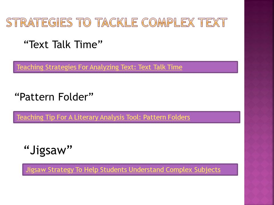 """Text Talk Time"" Teaching Strategies For Analyzing Text: Text Talk Time ""Pattern Folder"" Teaching Tip For A Literary Analysis Tool: Pattern Folders ""J"