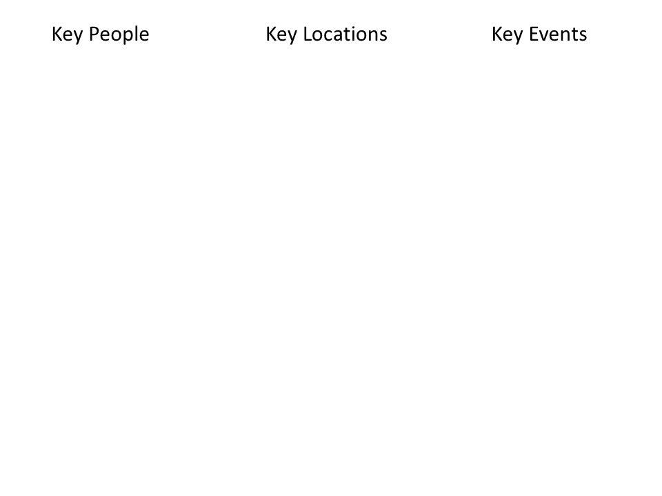 Key PeopleKey LocationsKey Events