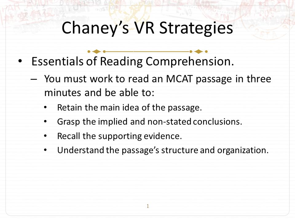 2 Charles Chaney's VR Mastery Curriculum for Increasing Verbal Reasoning Scores