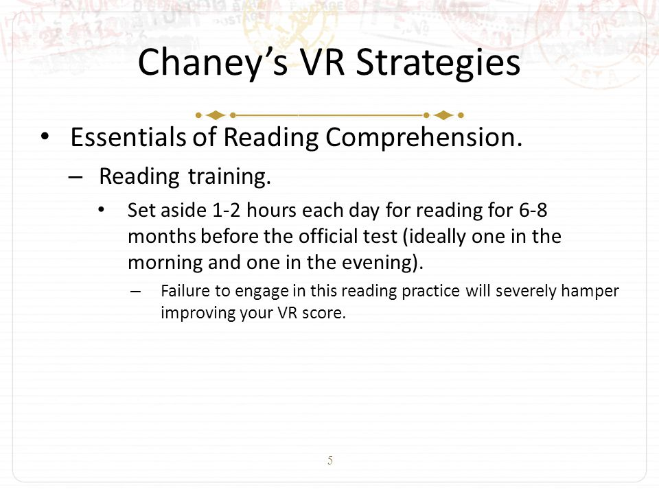 5 Chaney's VR Strategies Essentials of Reading Comprehension.