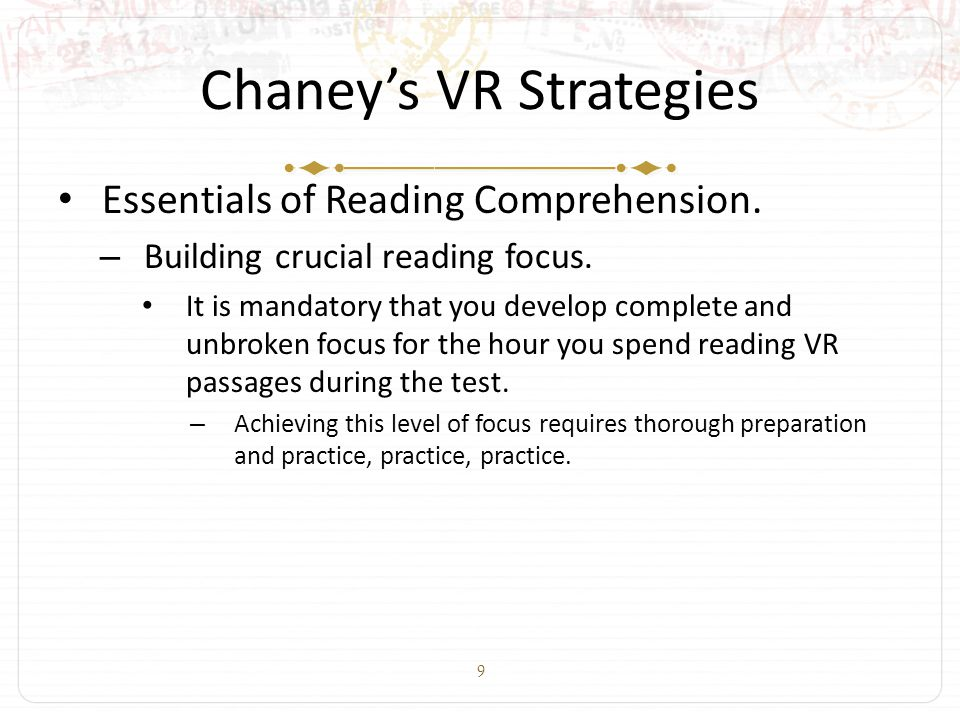 9 Chaney's VR Strategies Essentials of Reading Comprehension.