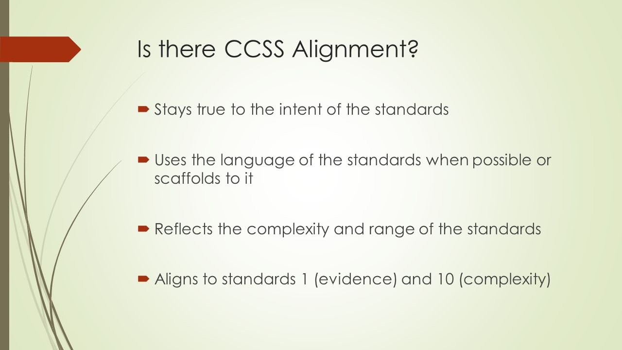 Is there CCSS Alignment.