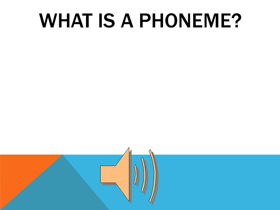 WHAT IS A PHONEME