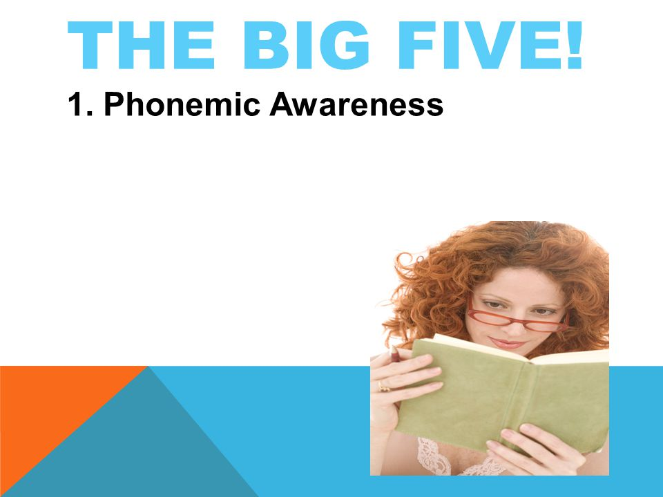 THE BIG FIVE! 1. Phonemic Awareness