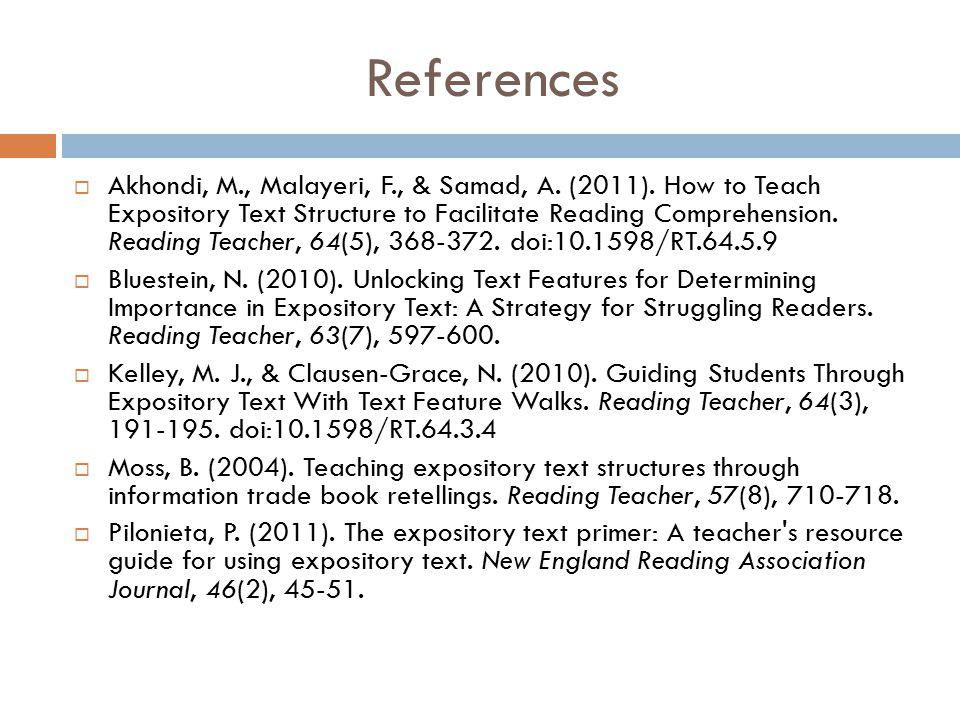 References  Akhondi, M., Malayeri, F., & Samad, A.