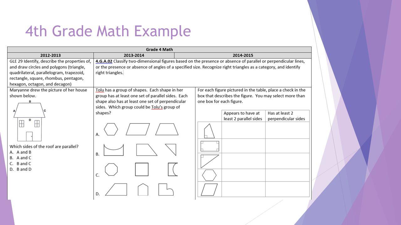 4th Grade Math Example