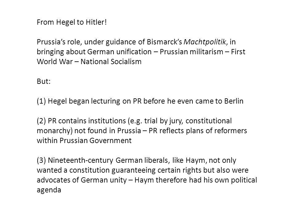 From Hegel to Hitler.