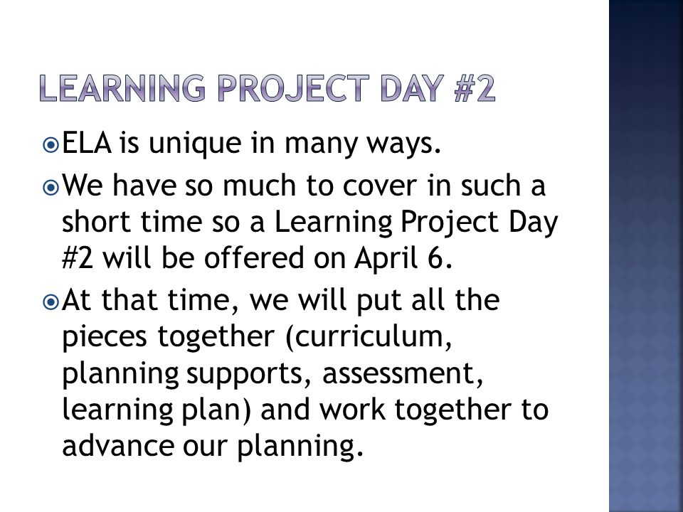  An assessment plan clarifies the learning destinations through establishing criteria.