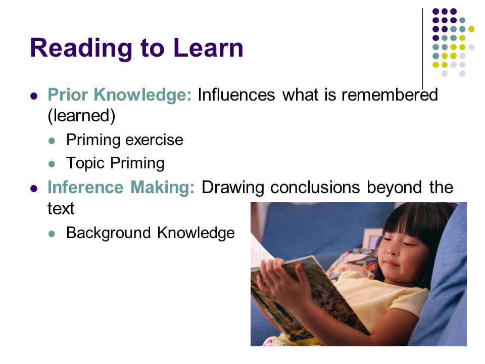 Using Prior Knowledge Using prior knowledge provides us with context and meaning while we are reading.
