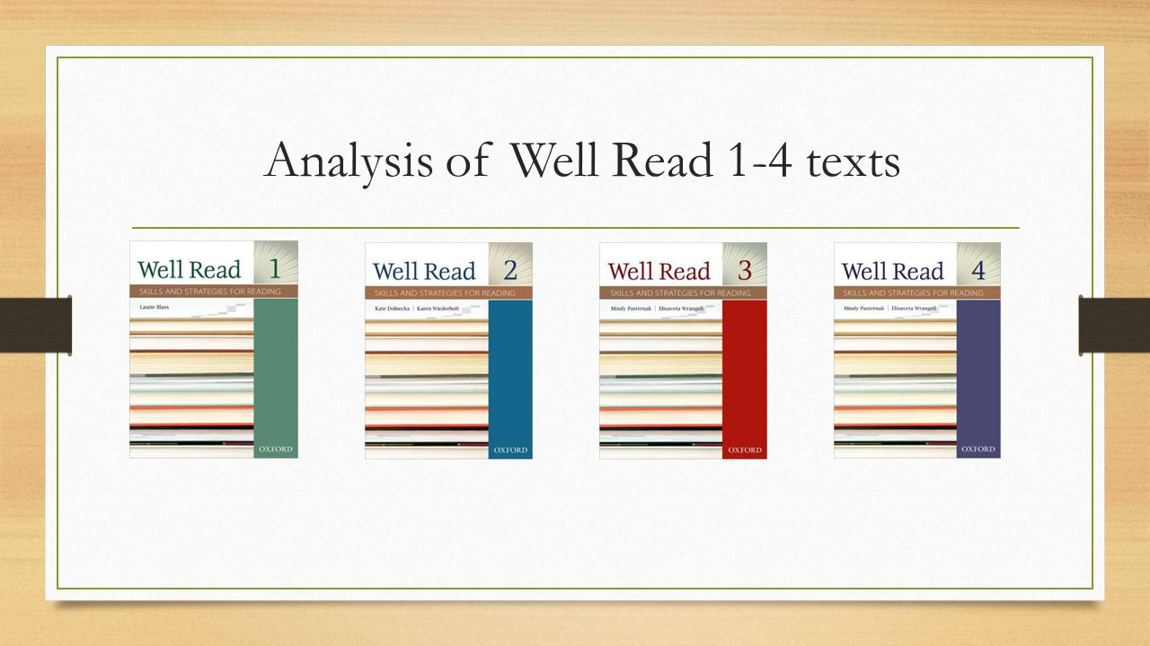Analysis of Well Read 1-4 texts